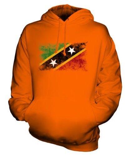 Saint Kitts et Nevis Drapeau Délavé Sweat à Capuche Unisexe Haut Kititien st