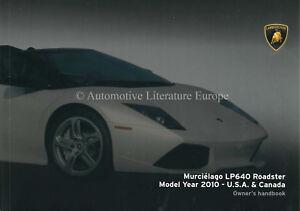 Details About 2010 Lamborghini Murcielago Lp 640 Roadster Owners Manual Handbook Usa Canada