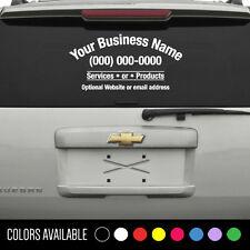 Custom 4 Line Business Name Decal Window Vinyl Sticker Lettering Car Truck