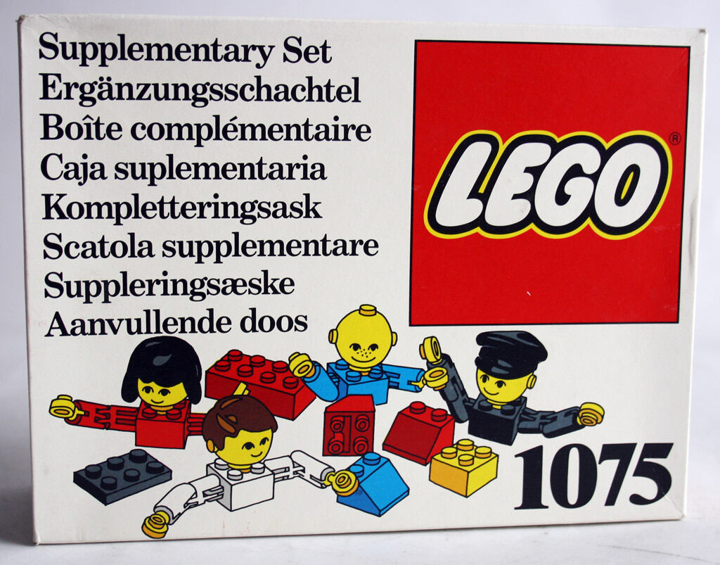 ULTRA RARE VINTAGE 1976 LEGO 1075 SUPPLEUomoTARY SET PEOPLE FIGURES NEW MISB