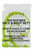 Moom Spa Collection, Microfiber Face And Body Mitt, 5x7.25 Inches / 12.5 X 18 Cm