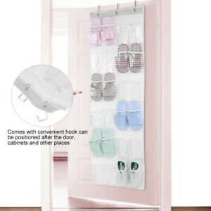 24-Pocket-Over-Door-Shoe-Organizer-Rack-Hanging-Storage-Holder-Hanger-Bag-Closet