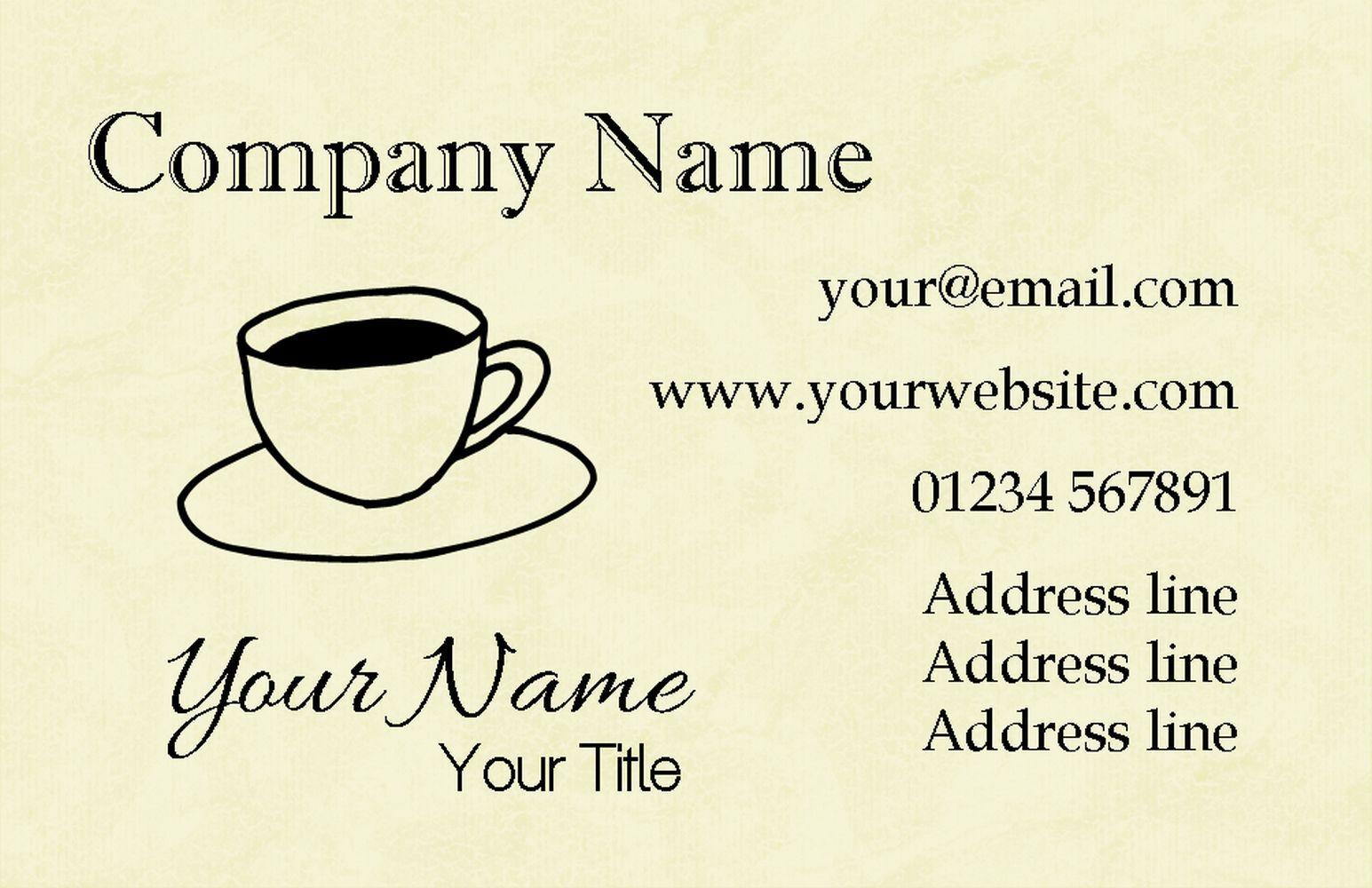 Jaune visite tasse de café cartes de visite Jaune personnalisées 3a5bf7