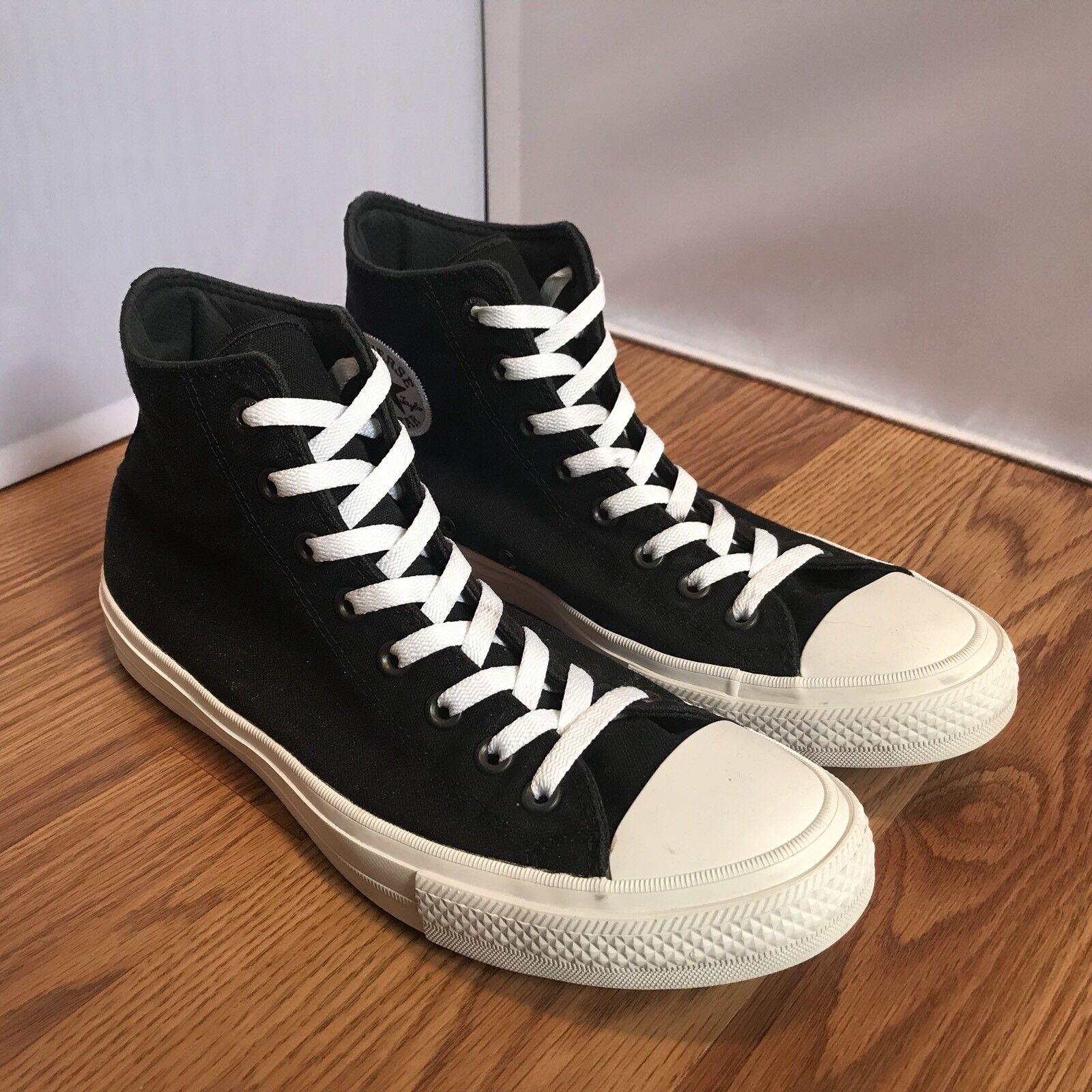 Converse All Star Chuck II 2 Lunaron Chaussures Noir Blanc
