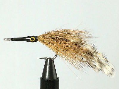 Deceiver White /& Chartreuse Bonefish Trout Redfish Bass Fly Fishing Flies x6