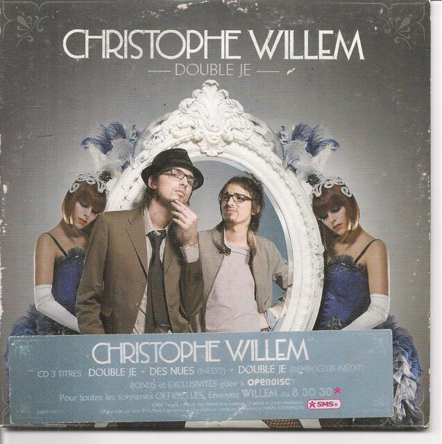 CD SINGLE 3 TITRES--CHRISTOPHE WILLEM--DOUBLE JE--2007