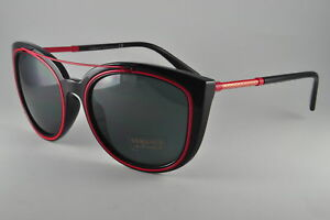 0168a16a6bd Image is loading Versace-Sunglasses-VE-4336-525587-Black-Size-56-