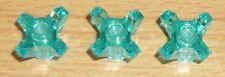 Lego 3 Kristalle in transparent türkis