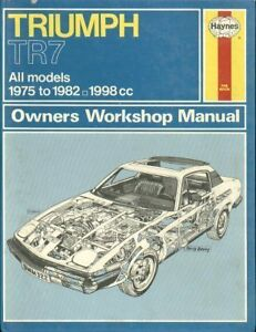 triumph tr7 coupe convertible 1976 1982 owners workshop manual rh ebay co uk drake tr7 transceiver repair manual download Truck Manual