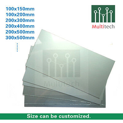 1pc 100x150x1.5mm Aluminum One-Side Copper PCB clad laminate Board 10x15cm