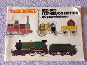 à Condition De Hornby Railways 1825 1975 Stephenson Edition 150 Years Of Railways Booklet Paquet éLéGant Et Robuste