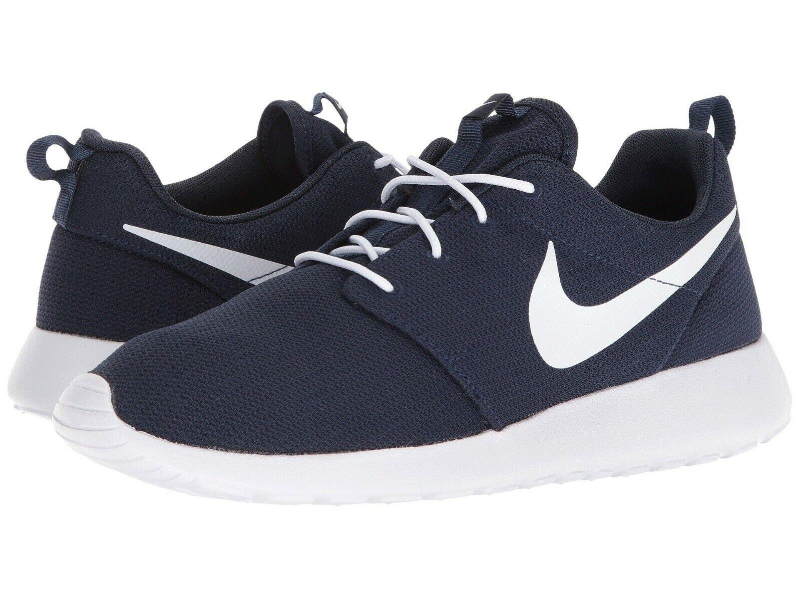 Nike Roshe One Mens 511881 423 Obsidian Blue White Mesh Running Shoes Size 11