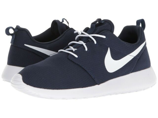 hot sale online d0874 343d0 Nike Roshe One Mens 511881-423 Obsidian Blue White Mesh Running Shoes Size  11
