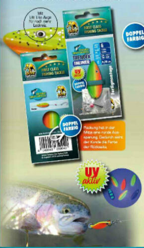 Inliner UV Spoon Trendex Forellenblinker Durchlaufblinker Köder Neu 3,8g Micro
