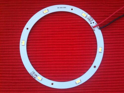 MODULO A CERCHIO IN ALLUMINIO DIAM.100MM 6 LED 5630 24V LUCE BIANCA FREDDA 270LM
