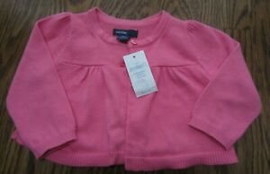 BABY-GAP-Girl-Cardigan-Sweater-3-6-Bright-Pink-NWT-EASTER