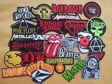 Lot of 25 Wholesale Music Rock Band Metal Punk Iron On Patch toppe toppa Sew #XX