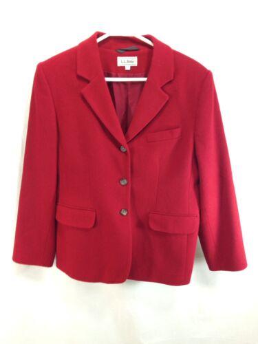Jacket Bean 3 Ll Mélange Vtg Boutons Womens 12 Blazer Manteau De À Laine Rouge USA Petite ngxgBqOw