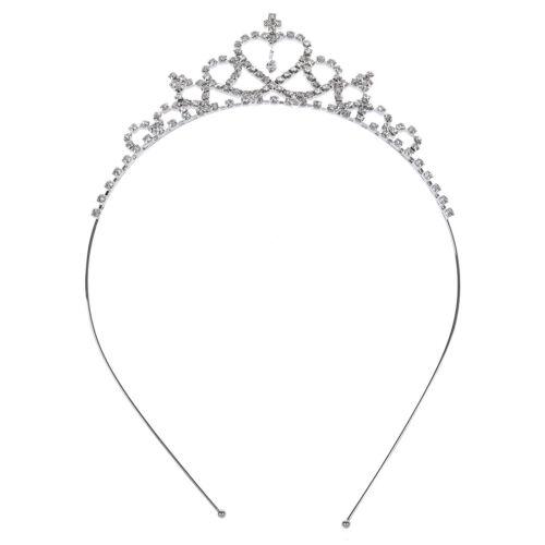 MA Hochzeit Diadem fuer Kinder Blumen Maedchen Herz Form Kronen Stirnband Tiara