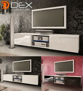 reputable site bca84 ea184 Details about Modern TV Stand TV Unit Cabinet - 160cm - 3 Colors - LED -  Floor or Wall Mount