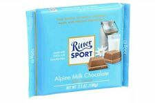 4 Bars of Ritter Sport Chocolate Bar - Alpine Milk Chocolate 30% Cocoa 3.5 oz ea
