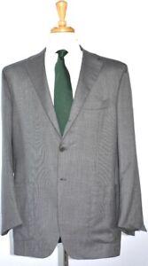 KITON-Mens-3-BTN-Gray-Nailhead-Cashmere-Suit-Size-56-EU-46-R-US-NEW-9500