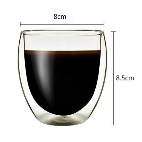 12 x 250ml Doppelwandige Espresso Gläser Kaffeegläser Thermogläser Espressotasse