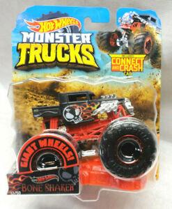 2019 Hot Wheels 1 64 Monster Trucks Flat Black W Flames Bone Shaker 12 50 887961705393 Ebay