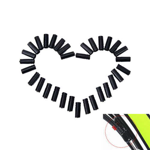 100Pcs4mm Bike Bicycle Cycling Brake Cable Crimps Housing Plastic End Tips Cap H