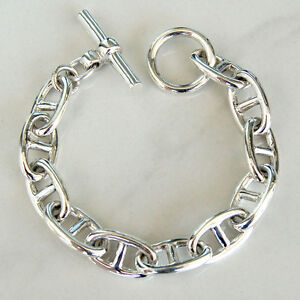 BR86-Bracelet-Design-Maillon-Chaine-d-039-Ancre-Argent-Massif-925-59g