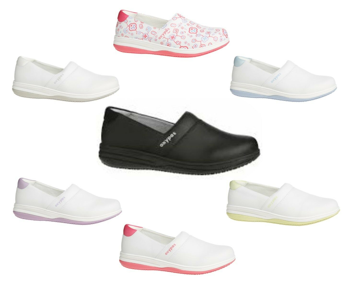 Oxypas Medilogic Suzy, Slip-on, Anti-slip, Washable Anti-static, Washable Anti-slip, Nursing Schuhe. 56dcc0