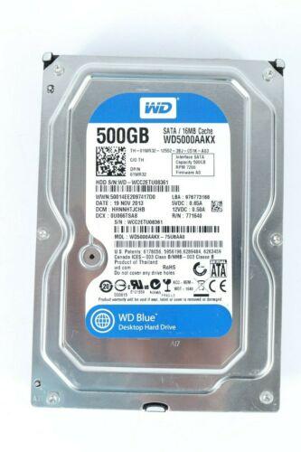 Western Digital WD5000AAKX-75U6AA0 SATA 500GB Hard Drive WD