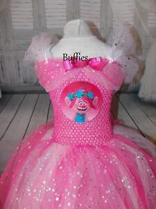 7146a887b Image is loading Poppy-Trolls-Dreamworks-Inspired-Tutu-Dress-Pink-Sparkly-