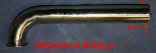 HEADER TIGHT BEND 90 DEGREE  22mm Zenoah Tiger King stainless steel