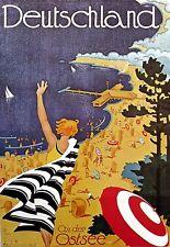 Art Poster Deutschland Germany Travel  Print