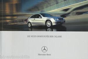 Mercedes-C-Klasse-Sportcoupe-Prospekt-8-01-2001-brochure-230-200-K-180-220-CDI