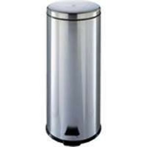 new homebasix 0678284 stainless steel 8 gallon 30l step trash garbage can ebay. Black Bedroom Furniture Sets. Home Design Ideas