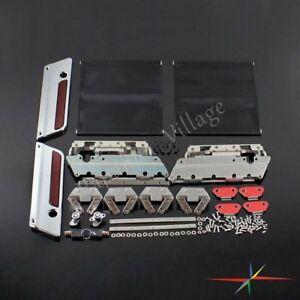 Hard Saddle Bag Latch Hardware Latches Hinges Lock Kit For Harley Road King 93+