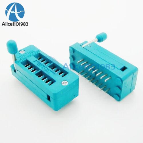 2PCS ZIF 16-pin 16 Pins Test Universal IC Socket 16 Pin DIP