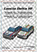 RSC-002 Lancia Delta HF integrale 16v 8v 1989 1991 Martini Jolly Club papercraft