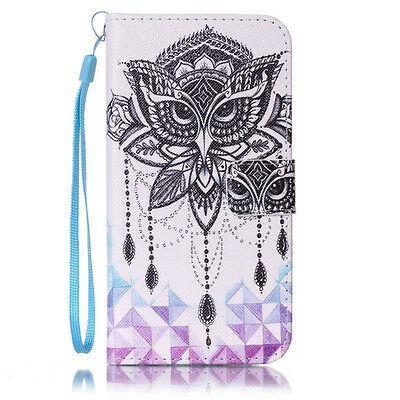Slim Pattern Flip Leather Card Holder Stand Wallet Cover Case For Samsung Galaxy