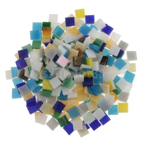 Square Triangle Glass Pieces Mosaic Tiles Tessera for DIY Mosaic Making Crafts
