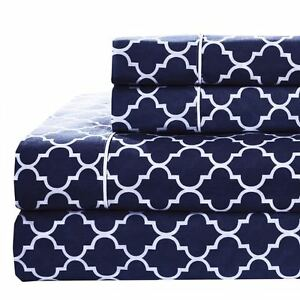 Details About Split King Bed Sheet Set 5pc Printed Meridian 100 Cotton Percale Weave Sheets