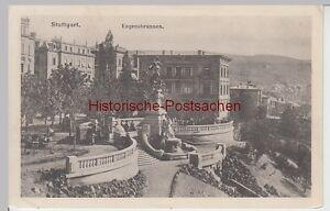 110043 Eugensbrunnen Ak Stuttgart Hell Vor 1945