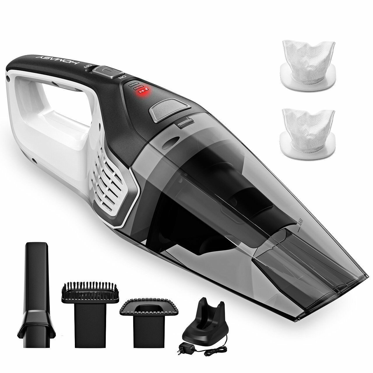 Homasy Rechargeable Handheld Vacuum Cordless, Powerful Cyclonic Suction Vacuum