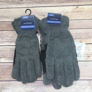 Grey Mens West Loop 3M Thinsulate Black Gloves