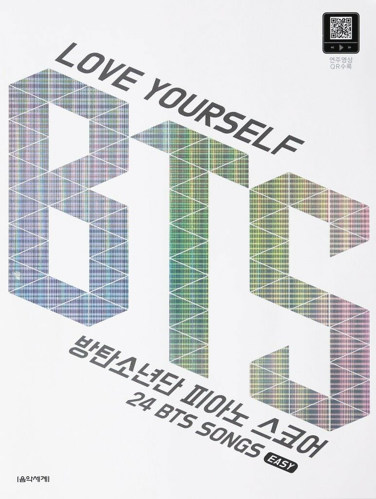 Bts Love Yourself Bts Piano Score Easy 24 Songs Qr Code Video 1st Oct 2018 Ebay