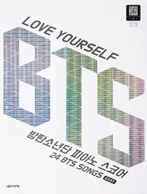 BTS] LOVE YOURSELF BTS Piano Score Easy 24 songs & QR code