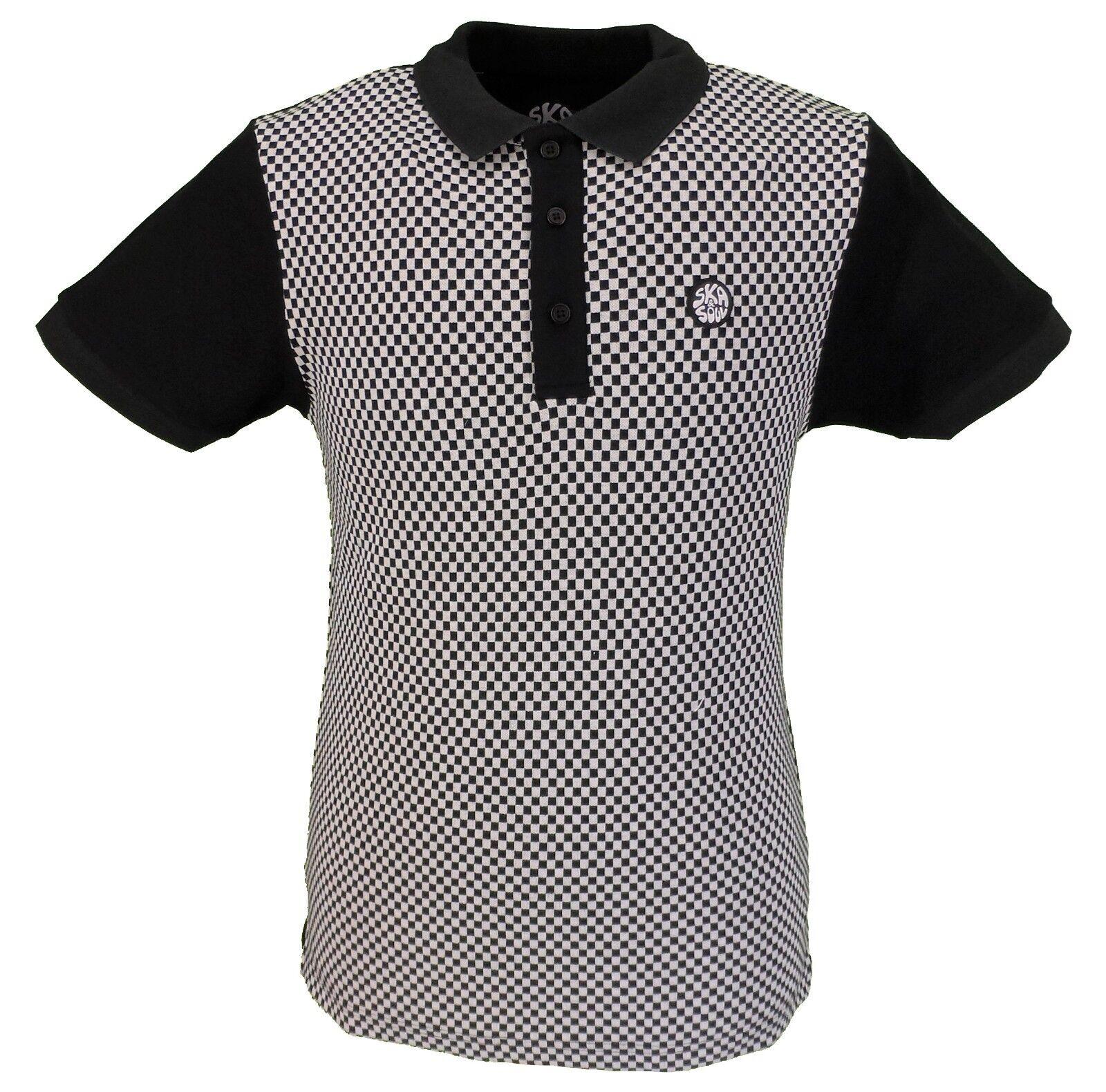 Ska & Soul Chequerboard Panel Polo Shirt      | Online Kaufen  2149cc