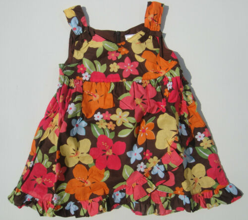 Gymboree NWT ALOHA SUNSHINE Brown Floral Dress Tank Sun 12 18 24 2 2T 3 3T